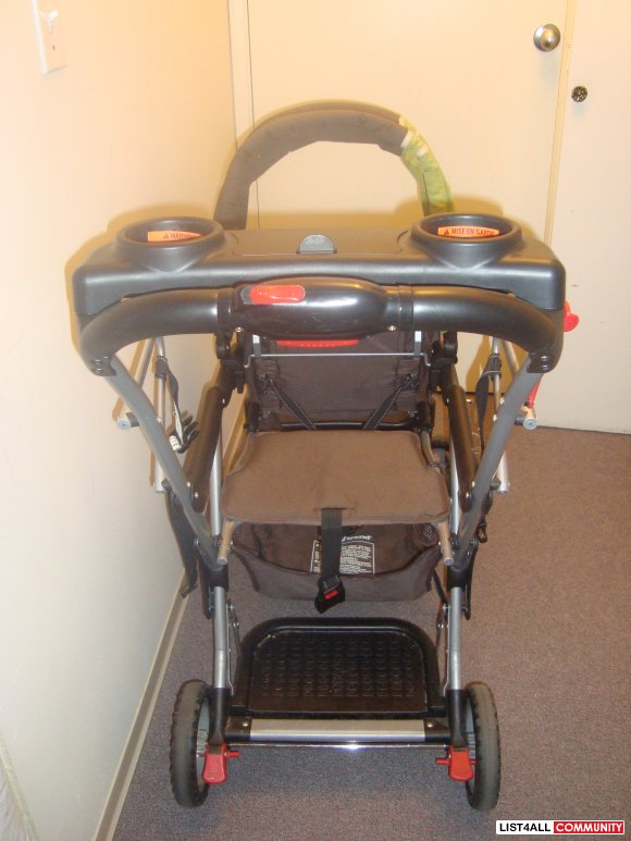 Sit and Stand slim double stroller!