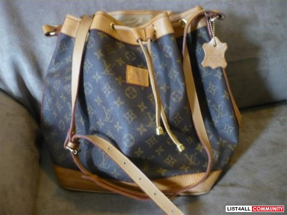Louis Vuitton cinch tote bag pristine