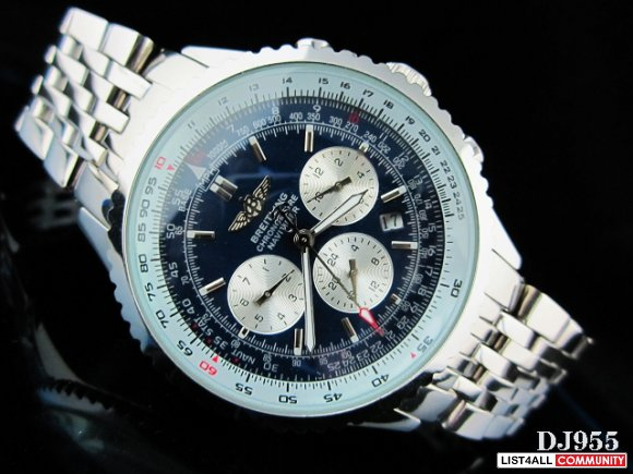 BREITLING Navitimer Stainless Steel Watch w. Box Papers