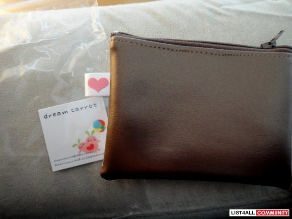 Piano Coin Purse-Brown